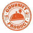 Stock Vector: Gourmet product stamp