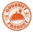 ストックベクタ: Gourmet product stamp