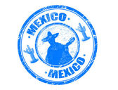 Stamp with Mexico — Stock Vector
