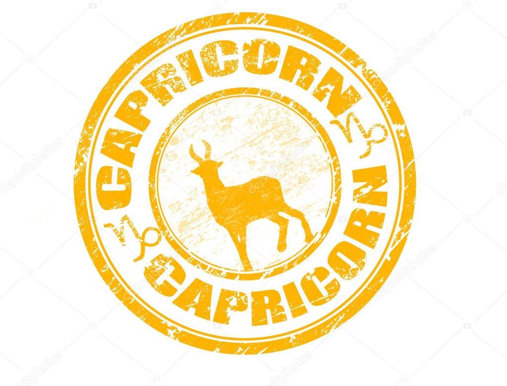 Znak Zodiaku Koziorożec Pieczątka Znak Zodiaku