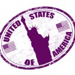 United states of America stamp — Stok Vektör