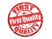 First quality stamp — Stock Vector