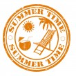 Summer time stamp — Vector de stock #27435447