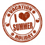 I Love Summer stamp — Stock Vector #27435489