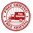 Free shipping stamp — Stock Vector
