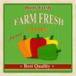 Vintage farm fresh peppers poster — Stock Vector #27464769