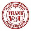 Thank you stamp — Stock Vector