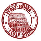 Italy, Rome stamp — Stock Vector