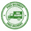 Free Delivery stamp — Stock Vector