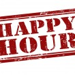 Happy Hour stamp — Vector de stock #27594397