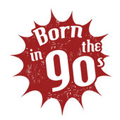 Born in the 90's stamp — Stockvector