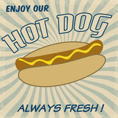 Hot dog poster — Stockvector