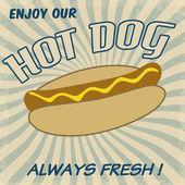 Hot dog plakát — Stock vektor