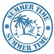 Summer time stamp — Stok Vektör