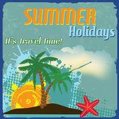 Affiche de vacances été — Vecteur