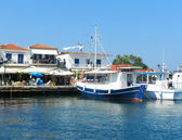The port on the Greek island of Skiathos — Foto Stock