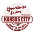 Stock Vector: Greetings from Kansas City stamp