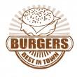 Burgers stamp — Stock Vector #28148407