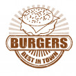 Stock Vector: Burgers stamp