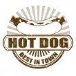 Hot Dog stamp — Stock Vector