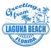 Pozdrav z laguna beach razítka — Stock vektor