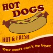 Hot dog poster — Stock Vector #28318011