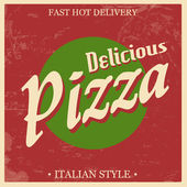 Retro Vintage Pizza poster — Stock Vector