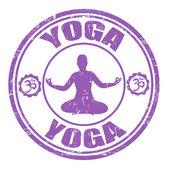 Yoga stamp — Stock Vector