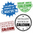 Excellent source of calcium stamps — Stock Vector #28562823