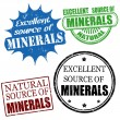 Stock Vector: Excellent source of minerals stamps