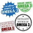 Stock Vector: Excellent source of omega3 stamps