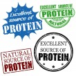 Постер, плакат: Excellent source of protein stamps
