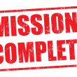 Mission complete stamp — Stockvektor #28565747