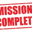 Mission complete stamp — Stock vektor #28565747