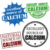Excellent source of calcium stamps — Stock Vector