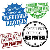 Excellent source of vegetable protein stamps — Stock Vector