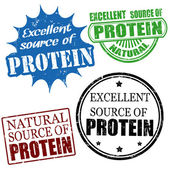 Excellent source of protein stamps — Stock Vector