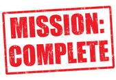 Carimbo de missão completa — Vetorial Stock