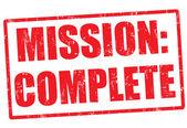 Mission komplett stempel — Stockvektor