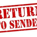 Постер, плакат: Return to sender stamp
