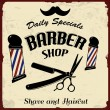Stock Vector: Vintage Styled Barber Shop