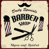 Vintage Styled Barber Shop — Stock Vector