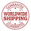 Worldwide shipping stamp — Vektorgrafik