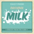 Vintage milk poster — Stock Vector