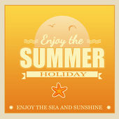 Enjoy the Summer Holiday poster — Vector de stock