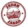 Zadar stamp — Stockvectorbeeld