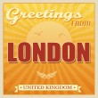 Vintage London, United Kingdom poster — Stock Vector