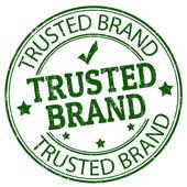 Güvenilir marka damgası — Stok Vektör