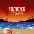 Vintage Summer Time poster — Stock Vector