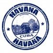 Havana stamp — Stockvectorbeeld
